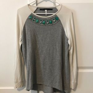 Jeweled top with turquoise detail
